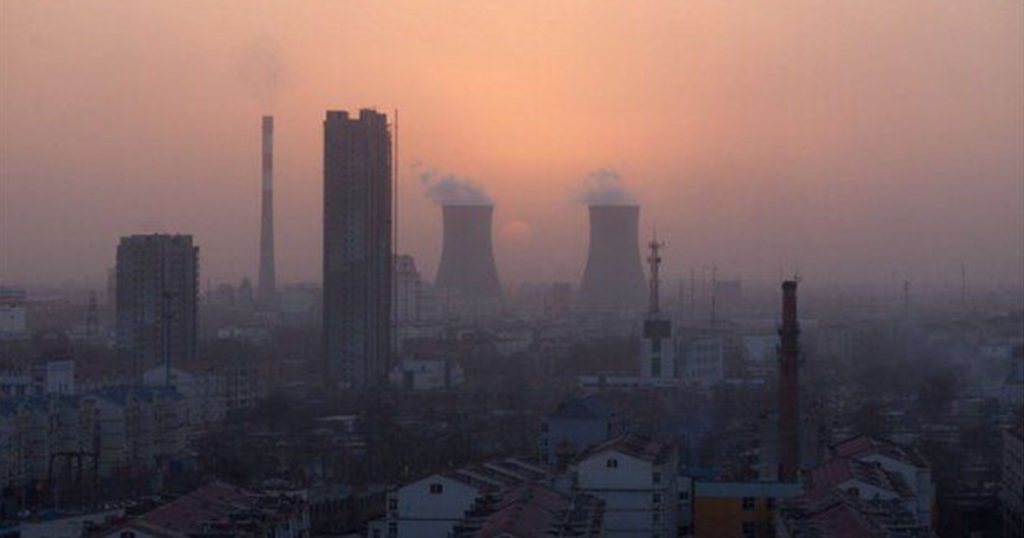 Air pollution in China's northern industrial city of Baoding