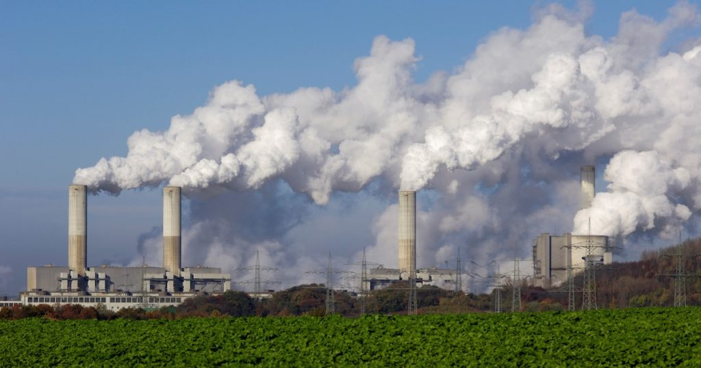Smoke emission from large factories