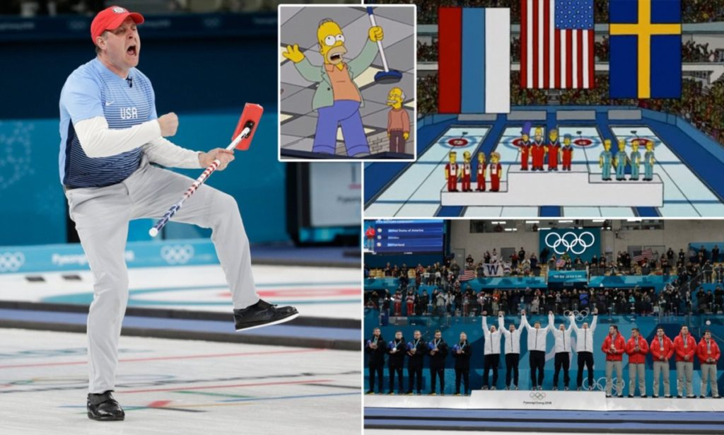 The Simpsons Predicted the future - Team USA's Olympic Curling Win | The Viral Bros